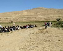14 kişilik minibüse bindirilen 71 düzensiz göçmen!