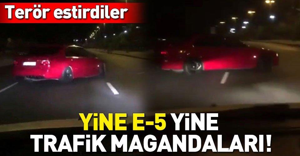 Yine E-5 yine trafik magandaları!