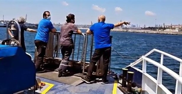 Vapurdan denize düşen yolcu kurtarıldı