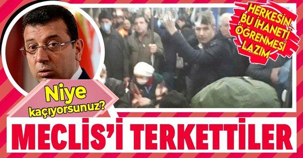 CHP ve İYİ Parti İBB Meclisi'ni terk etti!