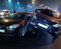 Avcılar'da feci kaza: 2 yaralı