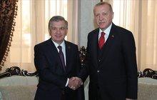 Mirziyoyev'den, Erdoğan'a doğum günü tebriği