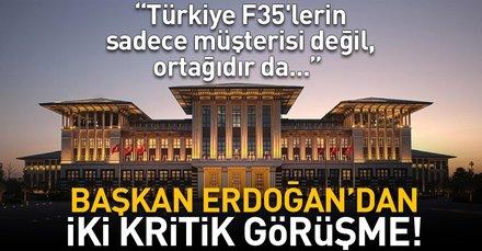 """Son dakika: Cumhurbaşkanlığı: """"Türkiye F35'lerin sadece müşterisi değil, ortağıdır da..."""""""