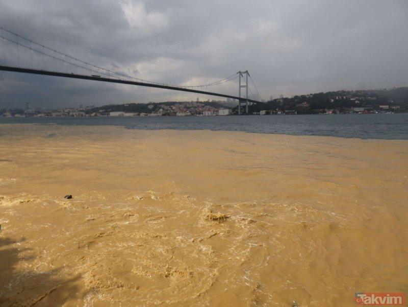 İstanbulda şiddetli yağmur! Boğaz çamura bulandı, araçlar mahsur kaldı