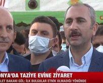 Bakan Gül Konya'daki katliam bölgesinde