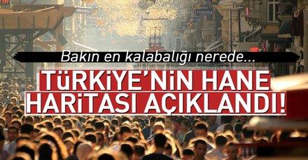 Türkiye'nin hane haritası açıklandı! Türkiye'nin en kalabalık hanesi nerede?
