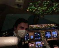 CoronaVac'ı taşıyan pilotumuz havada konuştu