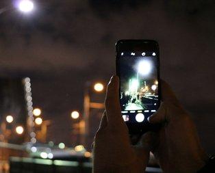 Haliçte bu manzarayı görenler telefonlarına sarıldı