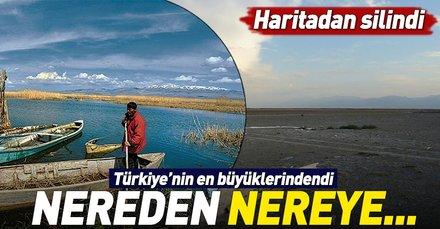 Afyonkarahisarda bulunan Eber Gölü tamamen kurudu