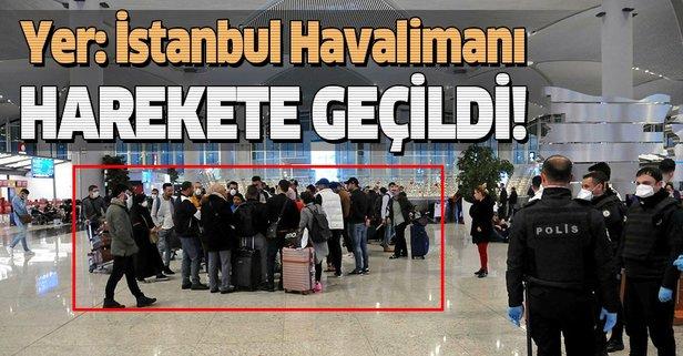İstanbul Havalimanı'nda hareketli dakikalar
