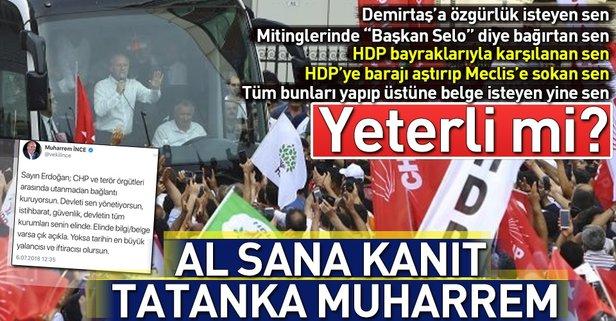CHP-PKK ilişkisini reddeden İnceyi zora sokacak belgeler!