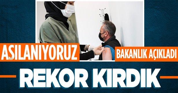 Türkiye'de son bir haftada aşı rekoru kırıldı