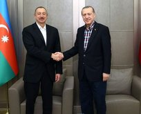 Cumhurbaşkanı Erdoğan ve İlham Aliyev görüştü