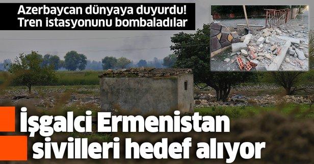 Ermeniler Terter kentini bombalıyor