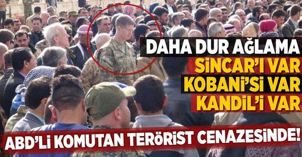 ABD'li komutan terörist cenazesine katıldı