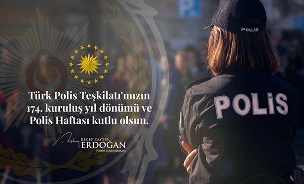 Başkan Erdoğandan Polis Haftası Mesajı Takvim 08 Nisan 2019