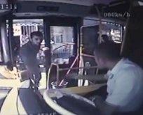 Otobüs şoförüne satırla saldırdı