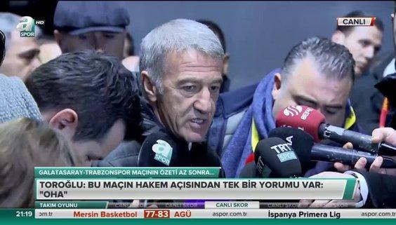 Trabzonspor Başkanı Ahmet Ağaoğlu'ndan zehir zemberek açıklamalar!