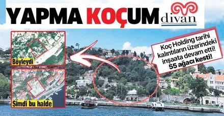Koç Holding'ten tarih ve ağaç katliamı!