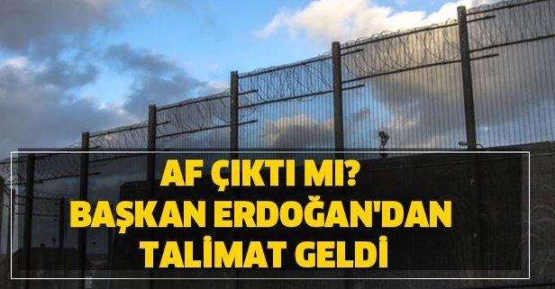 Af çıktı mı? Başkan Erdoğan'dan son dakika 2 talimat geldi