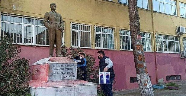 Atatürk büstüne saldırı