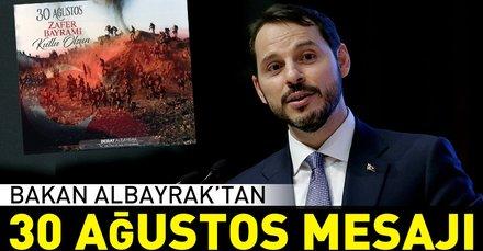 Bakan Albayraktan 30 Ağustos Zafer Bayramı mesajı