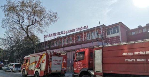 Ankara'da hastanede yangın paniği!
