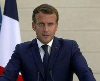 Macron tükürdüğünü yaladı! Flaş sözler