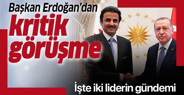 Başkan Erdoğan, Al Sani ile telefonda görüştü