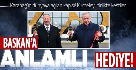 Başkan Erdoğan Azerbaycan'da! Bir ilk gerçek oldu