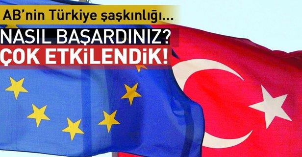 ABden Türkiyeye övgü! Çok etkilendik