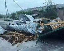 Türkmenistan'ı fırtına vurdu