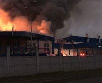 Düzce'de fabrika yangını! İki ilden itfaiye desteği