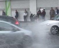 İstanbul'da vatandaşların zor anları! Bir anda bastırdı