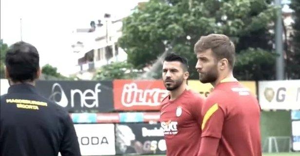 Galatasaray'da yeni transferler ilk antrenmanda