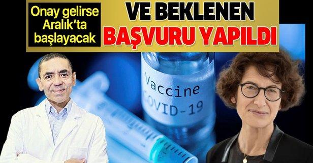 Koronavirüs aşısında başvuru yapıldı