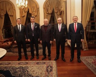 Binali Yıldırım kulüp başkanları ile bir araya geldi