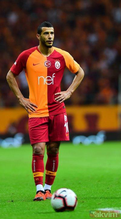 Galatasaraylı taraftarlardan Younes Belhandaya dev tepki!