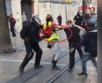Fransa'da kadın eylemcilere şiddet