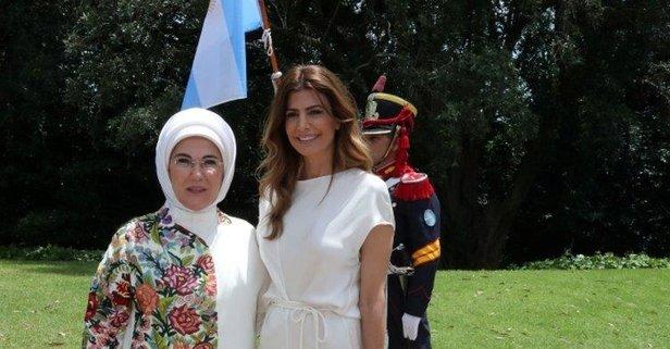 Emine Erdoğan lider eşleriyle bir araya geldi