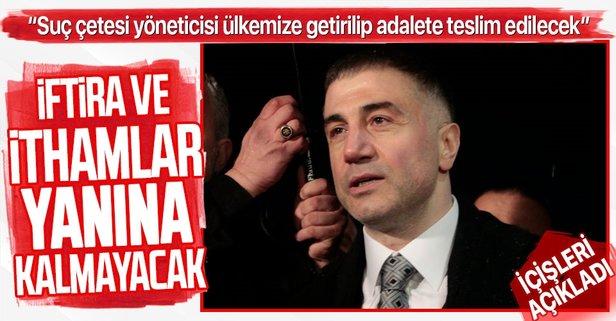 İçişleri'nden flaş 'Sedat Peker' açıklaması