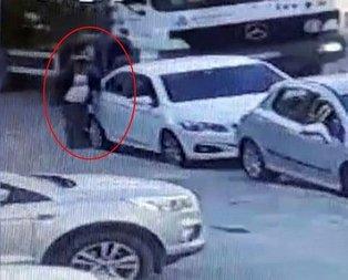 Otomobillere dadanan hırsız kamerada (Video)
