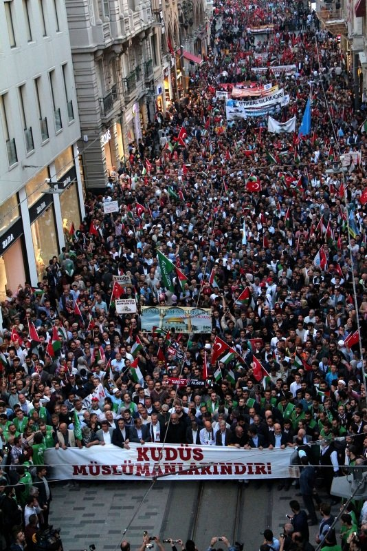 Beyoğlunda Kudüs protestosu