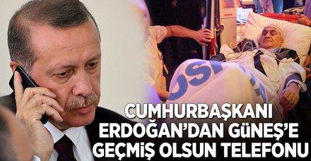 Cumhurbaşkanı Erdoğan'dan Şenol Güneş'e 'geçmiş olsun' telefonu