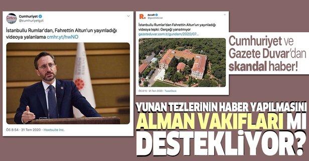 Cumhuriyet ve Gazete Duvar'dan skandal haber