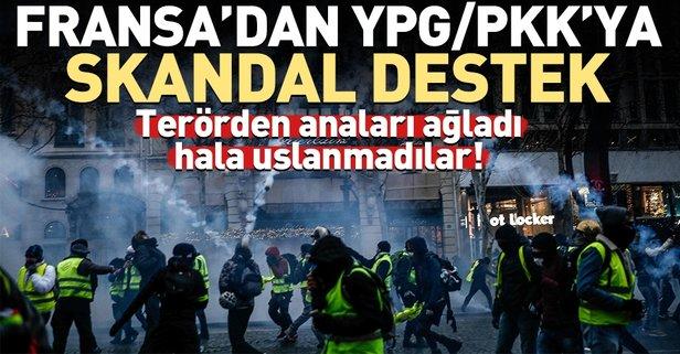 Terör örgütü YPG/PKK'ya Fransa sahip çıktı