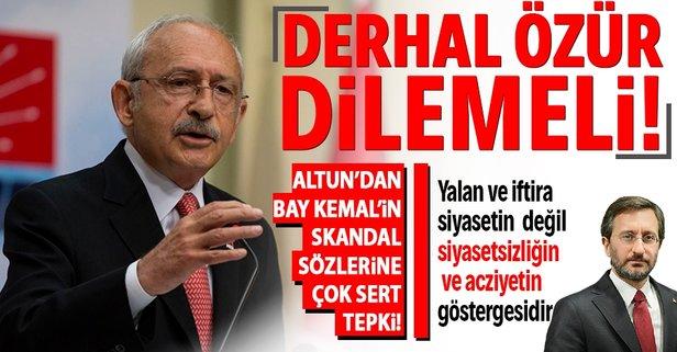 Altun'dan Kılıçdaroğlu'na sert tepki!