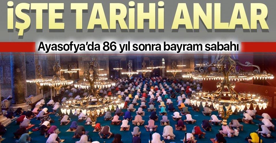 İşte Ayasofya Camii'nde tarihi anlar