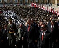 Erdoğan'dan Anıtkabir'de Barış Pınarı mesajı