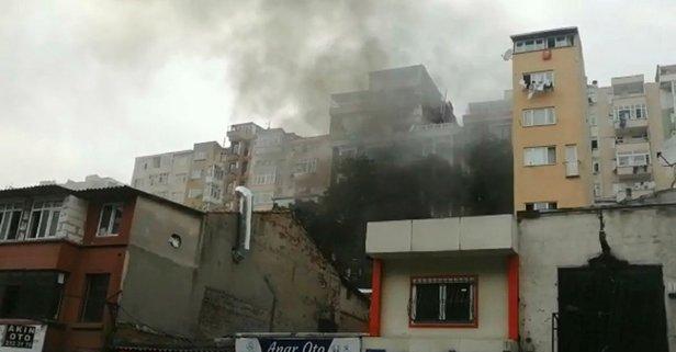 Şişli'de korkutan yangın! Bir anda dumanlar yükseldi